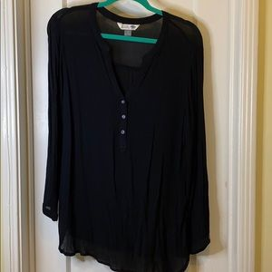 Old Navy black tunic blouse